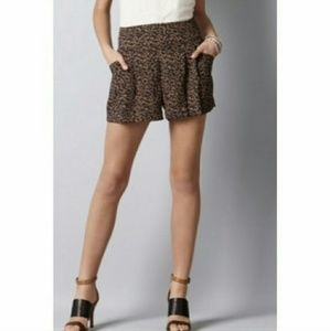 LOFT Animal Cheetah Print High Rise Shorts SZ 8